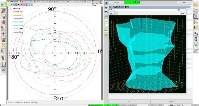 misura circolarità coassialità cilindricità